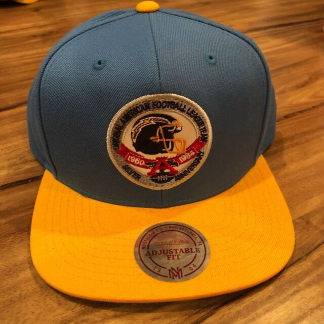 reputable site 0e6a1 f56ab NFL Mitchell   Ness San Diego Chargers Snapback Hat Original AFL Team Blue