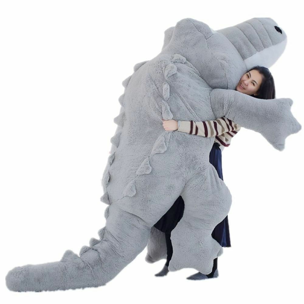 2019 Big Plush Crocodile Cushion Cute Giant Stuffed Animal Soft Toy Kid Gifts 3M