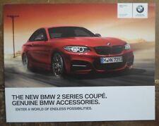 BMW 2 SERIES COUPE orig 2014 UK Mkt Genuine BMW Accessories Brochure