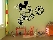 Mickey Mouse De Fútbol Niños Disney pegatinas de pared arte habitación extraíble calcomanías hágalo usted mismo