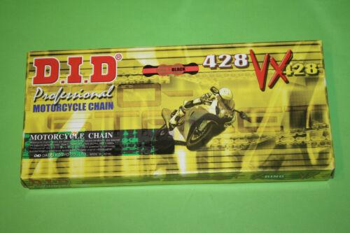 Motorradkette gold-schwarz DID Antriebskette Kette 428VX X-Ring 142 Glieder Top