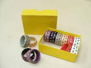 Decorative-Old-Napkin-Rings-Cult-Retro-Design-60er-Years-GDR-12-Piece