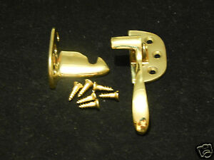 Ice Box Latch Cast Brass Polished Right Hand