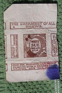 West's White Sue Cream Gum Wrapper L.E. West Rock Island Illinois Advertising