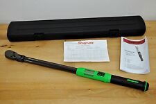 "Snap On Tool 1/2"" Digital Flex Head TechAngle Ratchet Torque Wrench ATECH3F250VG"