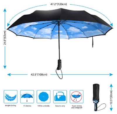 Double Layer Umbrella Windproof Outdoor
