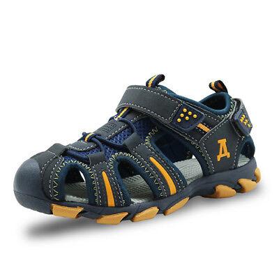 Apakowa 2019 rubber closed toe  boys sandals summer beach sandals girls sandals