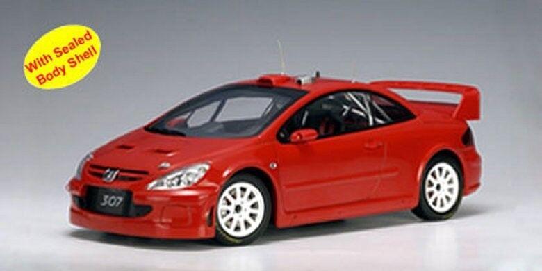 marcas de diseñadores baratos Peugeot Peugeot Peugeot 307 wrc 2004 Rallye plainbody rojo rojo Street test Autoart S-precio 1 18  comprar descuentos