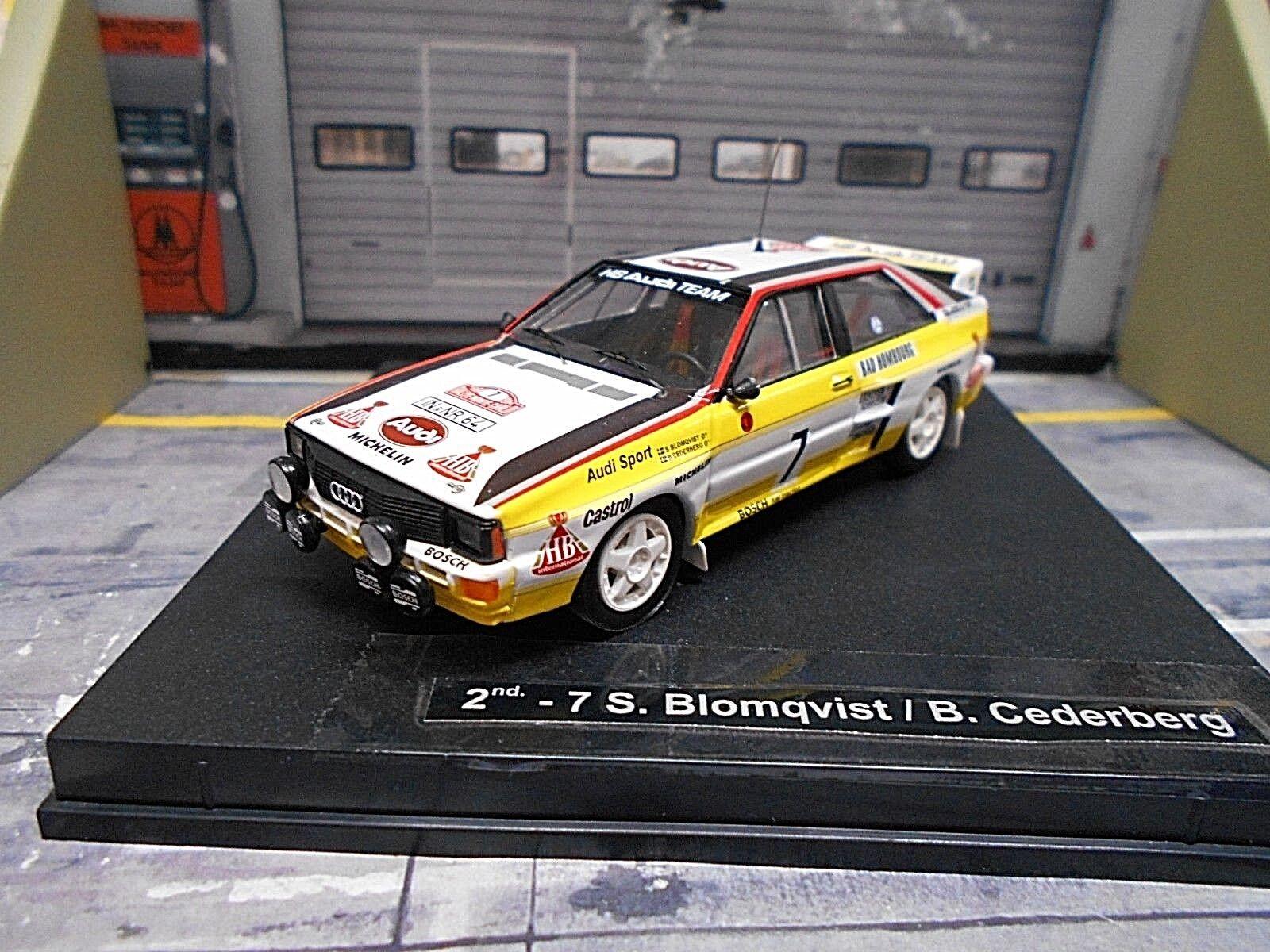 AUDI QUATTRO RALLYE MONTE CARLO Taille B 1984  7 Blomqvist Transformation HB Trofeu 1 43