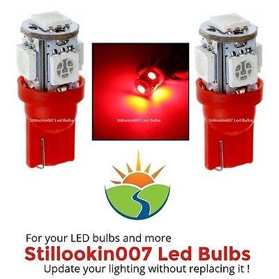 2 - T5 Landscape Light Bulbs, Red 5led's per bulb. Kichler & Hinkley