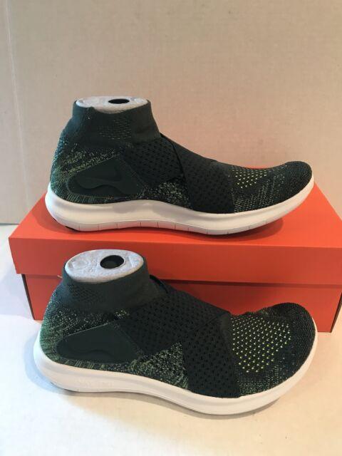 ad373d9b3afa Nike RN Motion FK 2017 Flyknit Women Size 8.5 Running Shoe Green ...