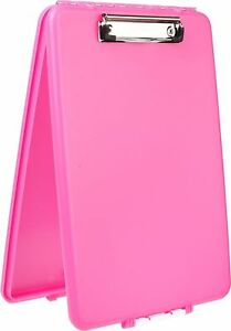 Pink-Storage-Nursing-Clipboard-Case-Plastic-Document-Letter-Size-Holder