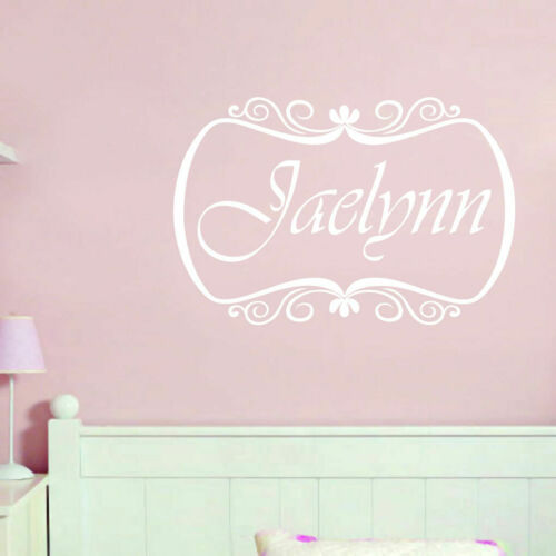 Family Custom Name With Border Wall Decal Personalized Nursery /& Kids Room