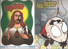 HEY MISTER #6 TROUBLE WITH JESUS & #7 EYES ON THE PRIZE 2 TOP SHELF BOOK LOT NM-