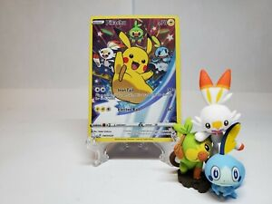 Pokemon SWORD /& SHIELD Figure Collection Box Pikachu promo card #SWSH020