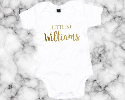 Unisex Baby Shower Cadeau Bébé Personnalisé Nom due Personnalisé Date Babygrow bébé gilet Romp