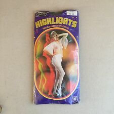 Vintage 70s EMBASSY 'Highlights' GREEN Textured PANTYHOSE~SEXY 70s Disco MODEL!