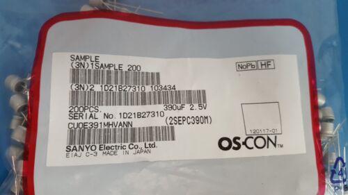 2SEPC390M Sanyo Polymer Capacitor 100 Pcs 2.5VDC 390uF Radial 5X6mm