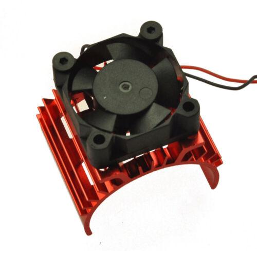 Aluminum Heat Sink for 1//10 Car 540 550 3650 Size Motor Red 5V Cooling Fan