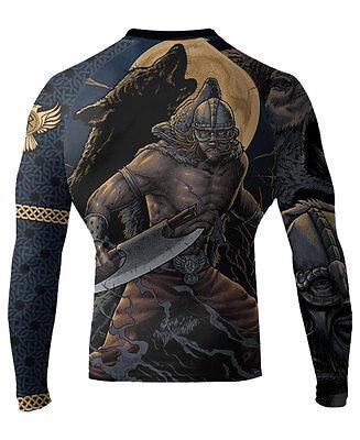 Raven Fightwear Men's Ulfhedinn MMA BJJ Rash Guard Black
