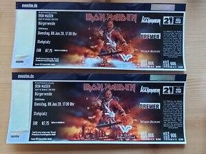2x IRON MAIDEN,  2 Tickets Bremen 20.07.2022