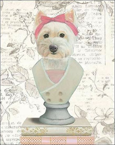 Emily Adams  Canine Couture Newsprint II Keilrahmen-Bild Leinwand Hund Mode