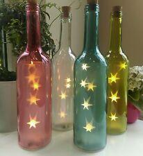 Bottle lamp many colours.battery operated. starlight led glass bottle light.