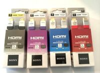 Sony 2m 1.4 Ver. Flat High Speed Hdmi Cable 3d Hd Ps4 Xbox 1080p Tv Dlc-he20hf