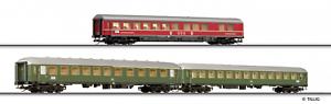 Tillig TT scale Set of 3 Express train Passenger cars DB