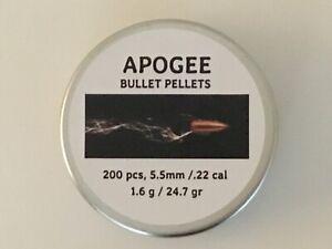 Apogee-Bullet-Air-Gun-Pellets-22-5-5mm-cal-Qty-200-Free-P-amp-P