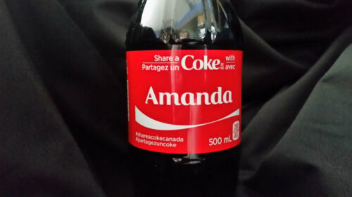 SHARE A COKE WITH AMANDA COCA COLA EXCLUSIVE CANADIAN ONLY NAME
