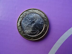 FALKLAND ISLANDS 2 POUNDS BATTLE OF FALKLAND BIMETAL BI-METALLIC 2014 BUNC