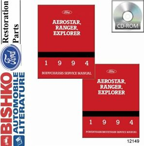 OEM-Repair-Maintenance-Shop-Manual-CD-Ford-Truck-Aerostar-Explorer-Ranger-1994