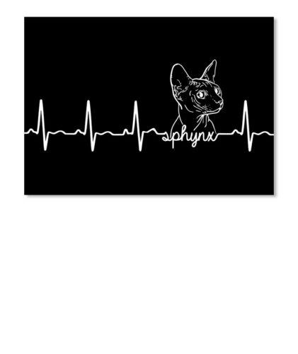 Landscape Sticker Landscape Details about  /Printed Sphynx Cat Heartbeat Sticker