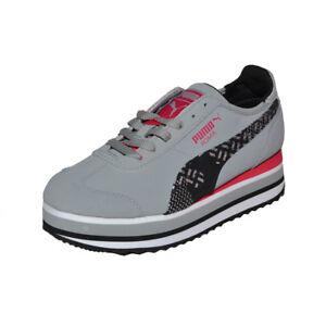 PUMA-Roma-Slim-Stacked-Platform-Camo-Womens-Shoes-Trainers-Sneaker