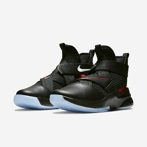 newest 54639 86a5a Details about Nike Lebron Soldier 12 XII Black/Red Bred Flyease Zip Up Mens  2019 All NEW