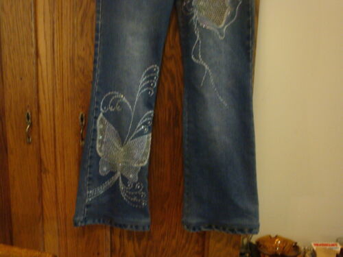 rilievo taglia Meng con in Jeans a farfalla applicazioni 2 applicati jeans Yi con gxqwYtqT