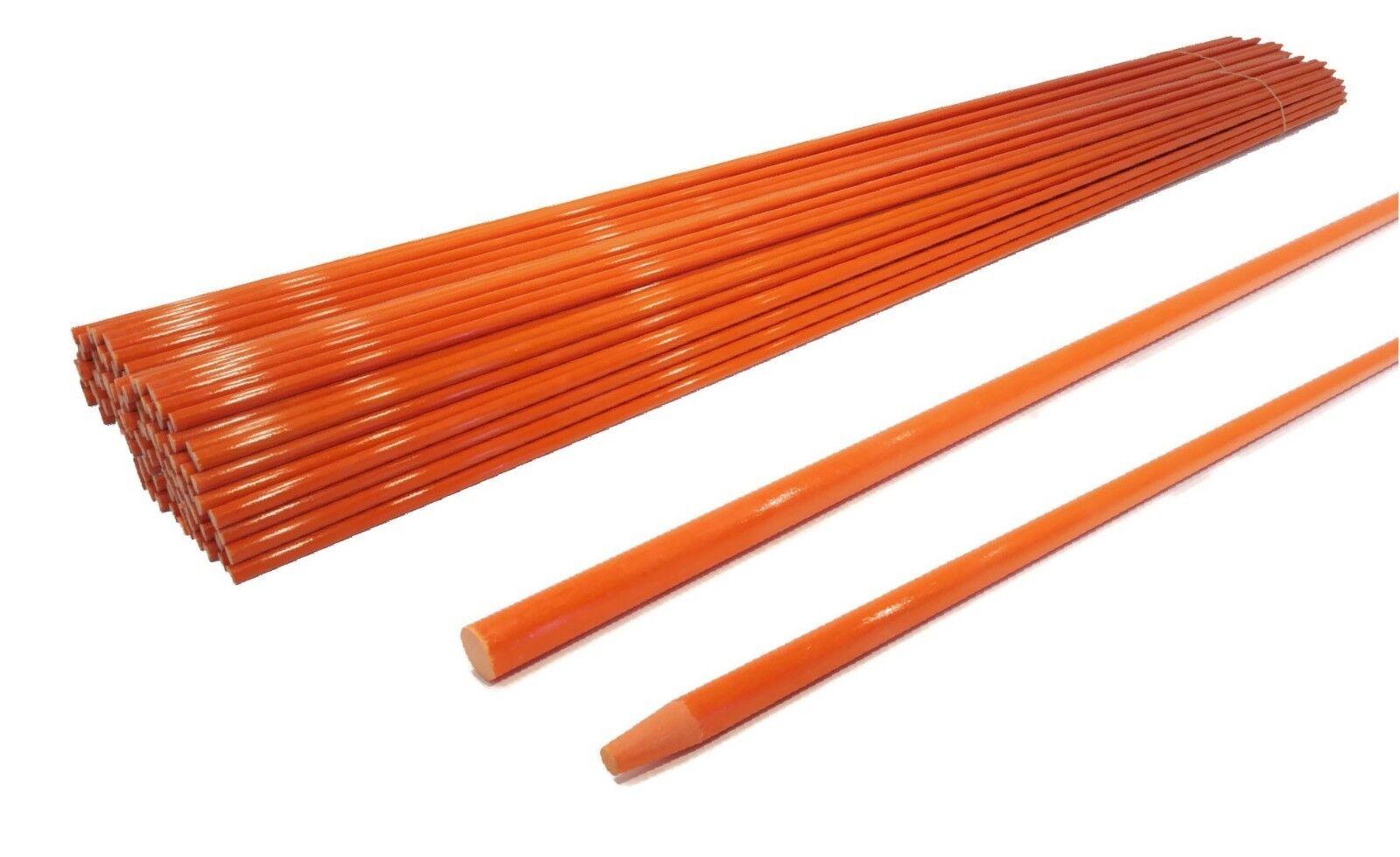 Paquete De 250 vía palos 48 pulgadas de largo, 5 16 Pulgadas, Naranja, Fibra De Vidrio