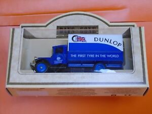 Lledo Days Gone 1934 Mack Canvas Back Truck in Dunlop tyres Livery