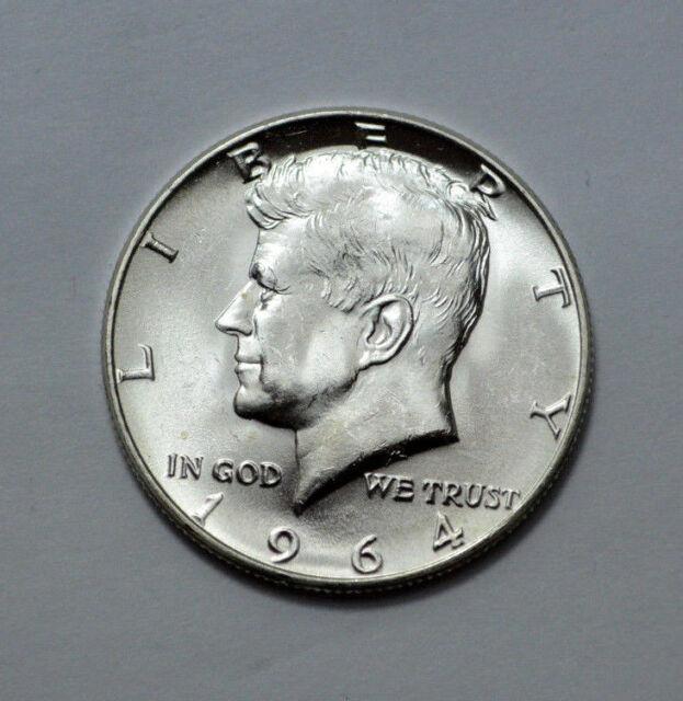 1964 Kennedy Silver Half Dollar!! COLLECT SILVER NOW!!! GEM BU 90/% Silver!!