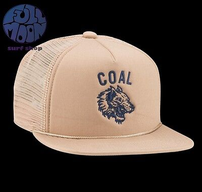 New Coal Seneca Grey Mens Trucker Snapback Cap Hat
