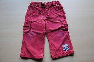 Schoene-Jungen-Hose-Baby-Kleidung-C-amp-A-rot-Gr-80