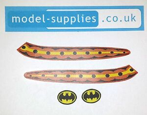 Corgi 107 Batboat (2nd issue) Reproduction Sticker Set