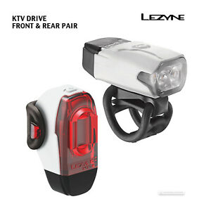BLACK NEW Lezyne KTV DRIVE USB Rechargeable Front Bicycle Head Light