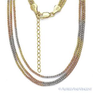 e65e0b0fd0bd9c 925 Sterling Silver & 14k Yellow Rose Gold GP Roc Link Rope Multi ...