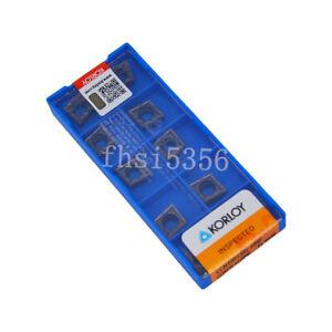 New 10Pcs//Box Korloy CCMT09T304-HMP PC9030 CCMT32.51-HMP Carbide Inserts oc