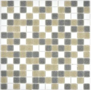 Détails sur Mosaïque Carreau verre blanc gris marron Mur Sol Carrelage  Miroir 210-p001624_b- afficher le titre d\'origine