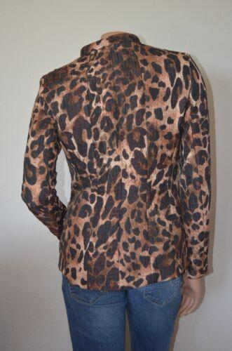 New Jakke Sz York Print Collar Mandarin Andy Lafayette Leopard 148 2 Txnw7A54P