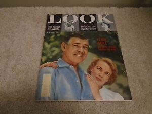 Vintage LOOK Magazine October 4, 1955, Clark Gable, Baseball, Notre Dame Sports