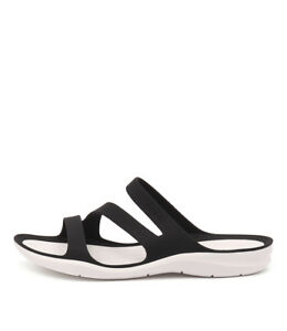 7c8735e00 New Crocs Swiftwater Sandal Black White Womens Shoes Casual Sandals ...
